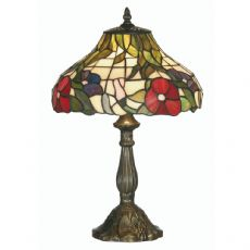 Peonies 1x60w Tiffany Glass 12 Inch Table/Bedside  Lamp - OT 1345/12 TL